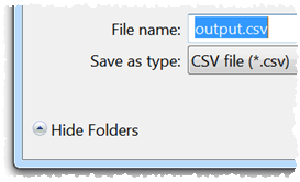 convert CSV to delimited